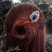 Украшения handmade. Livemaster - original item Hairpin with lapis lazuli