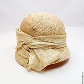 Аксессуары ручной работы. Ярмарка Мастеров - ручная работа Соломенная шляпа, шляпка клош Летняя. Handmade.