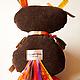 Игрушки животные, ручной работы. Заказать Авторская текстильная кукла – Сова «ФАВА». Евгения Лобек (elobek). Ярмарка Мастеров.