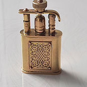 Сувениры и подарки handmade. Livemaster - original item Petrol lighter with an ornament on the plate.. Handmade.