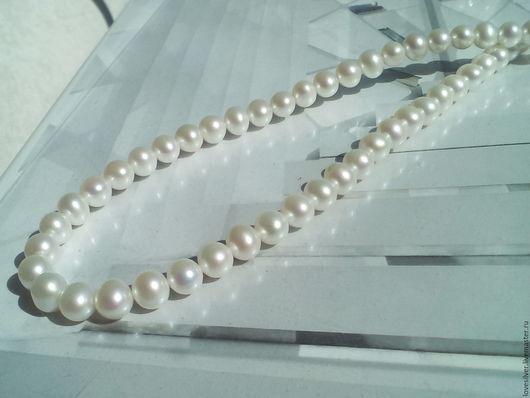Для украшений ручной работы. Ярмарка Мастеров - ручная работа. Купить ЖЕМЧУГ натуральный белый ААА качества 7-8 мм. Handmade.
