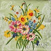 Материалы для творчества handmade. Livemaster - original item Napkin for decoupage floral bouquet print. Handmade.