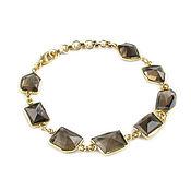 Украшения handmade. Livemaster - original item A bracelet with rauchtopaz, a smoky quartz bracelet, a gift for a girl. Handmade.
