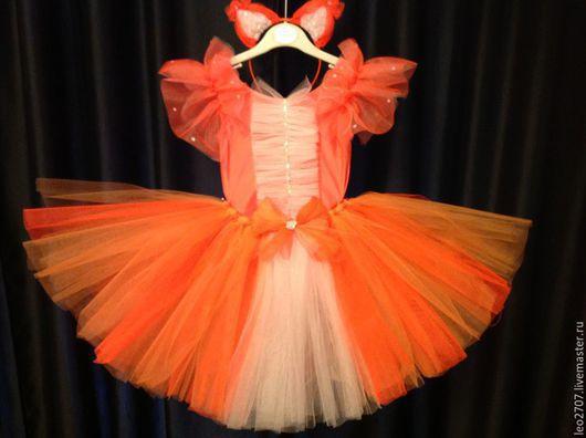 Детские карнавальные костюмы ручной работы. Ярмарка Мастеров - ручная работа. Купить Карнавальный костюм лисички. Handmade. Рыжий, ободок