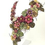 Украшения handmade. Livemaster - original item Berry hops. necklace. Genuine leather, natural stones. Handmade.