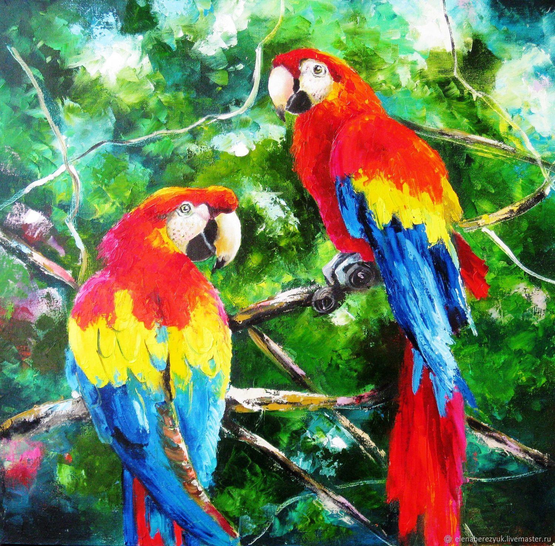 любимый рисунок попугаев как живые вкусные
