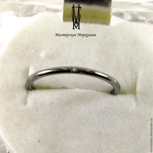 """Кольца ручной работы. Ярмарка Мастеров - ручная работа. Купить Кольцо """"Мини"""" черное. Handmade. Серебряный, подарок"""