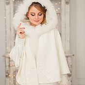 Свадебный салон handmade. Livemaster - original item Wedding coat, Bridal jacket, Fur jacket, Wedding cover up, Gerda 2. Handmade.