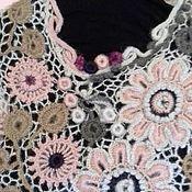 """Одежда ручной работы. Ярмарка Мастеров - ручная работа """"Зимние пастели"""" - пуловер в технике ирландского кружева. Handmade."""