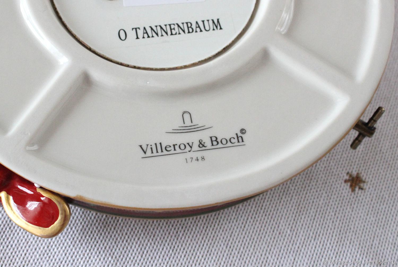 Villeroy Boch Tannenbaum.винтаж Villeroy Boch большой фарфоровый подсвечник с музыкой купить в