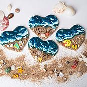 """Сувениры и подарки ручной работы. Ярмарка Мастеров - ручная работа Магнит """"Частичка моря"""". Handmade."""
