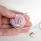 Куклы и игрушки ручной работы. Ярмарка Мастеров - ручная работа Медальон-спаленка для мишки. Handmade.