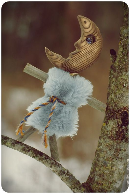 Народные куклы ручной работы. Ярмарка Мастеров - ручная работа. Купить Шаманская кукла - Месяц в серебристой шубке. Handmade.