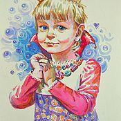 Картины и панно ручной работы. Ярмарка Мастеров - ручная работа Детский портрет на заказ. Handmade.