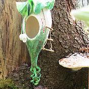 Композиции ручной работы. Ярмарка Мастеров - ручная работа Арт объект. Войлочные гнездо Эльфийский домик.. Handmade.