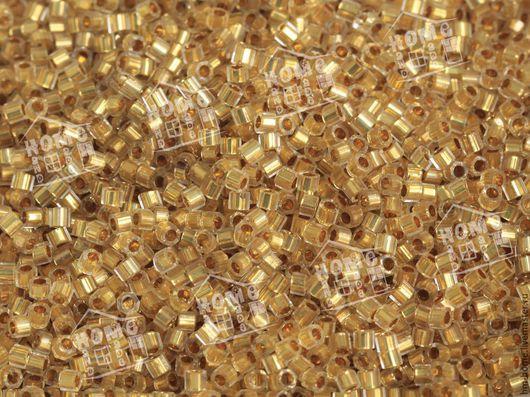 Для украшений ручной работы. Ярмарка Мастеров - ручная работа. Купить DBC-33 MIYUKI Delica 24KT Gold Lined. Handmade.