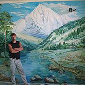 """Дизайн и реклама ручной работы. Ярмарка Мастеров - ручная работа """"Альпийские горы"""". Handmade."""