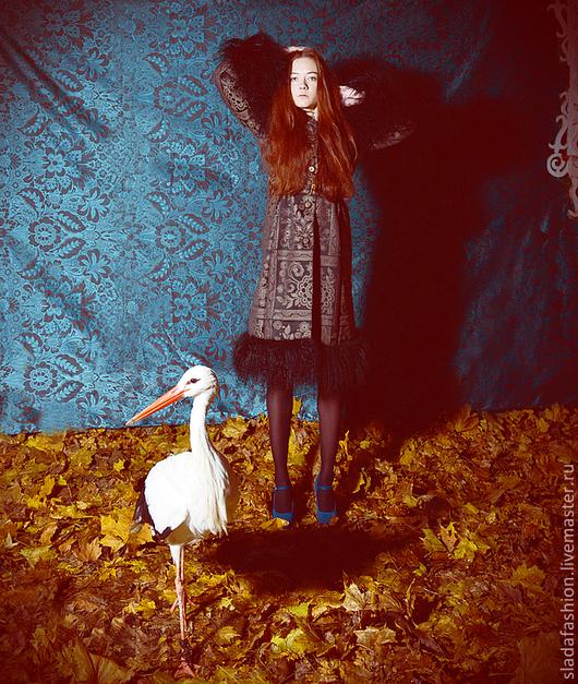 """Верхняя одежда ручной работы. Ярмарка Мастеров - ручная работа. Купить Пальто """"Черная Королева"""". Handmade. Черный, зимнее пальто"""