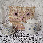 """Для дома и интерьера ручной работы. Ярмарка Мастеров - ручная работа Грелка на чайник """"Бежевая Сова"""". Handmade."""