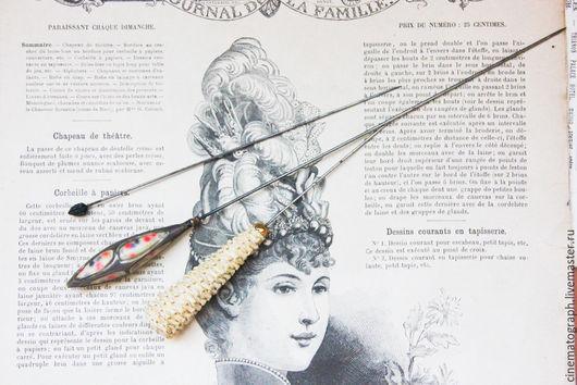 Винтажные украшения. Ярмарка Мастеров - ручная работа. Купить Антикварные шляпные булавки FRANCE винтаж. Handmade. Разноцветный, шляпная булавка