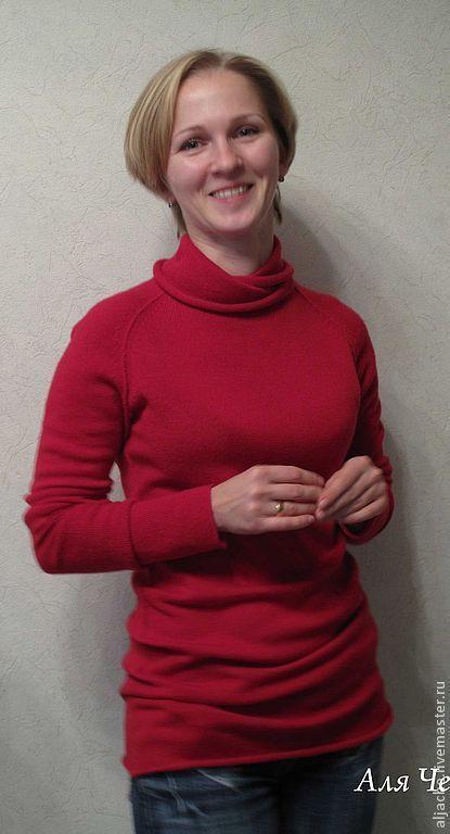 Кофты и свитера ручной работы. Ярмарка Мастеров - ручная работа. Купить свитер из кашемира с шелком. Handmade. Кашемир и шелк, серый