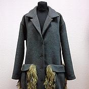 """Одежда ручной работы. Ярмарка Мастеров - ручная работа Пальто с """"меховыми"""" карманами. Handmade."""