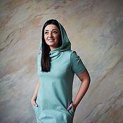 Одежда handmade. Livemaster - original item Oversize Jersey dress with a hood