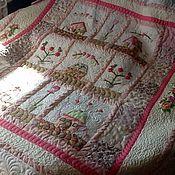 """Для дома и интерьера ручной работы. Ярмарка Мастеров - ручная работа Лоскутное покрывало """"Улица Роз"""". Handmade."""