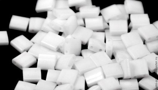 Для украшений ручной работы. Ярмарка Мастеров - ручная работа. Купить Tila 402 White Белый Японский бисер Тила Миюки 5гр. Handmade.