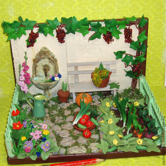 Кукольный дом ручной работы. Ярмарка Мастеров - ручная работа. Купить Огород. Handmade. Ручная работа, миниатюрная мебель