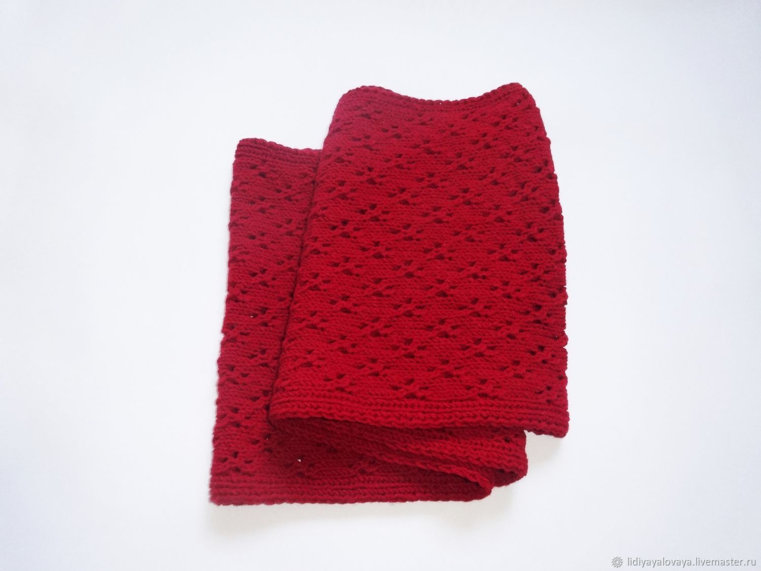 knitted Snood, Snood in two turns, wool cowl, Snood in the wool, cherry, women's Snood,Snood winter, autumn Snood,tube scarf.