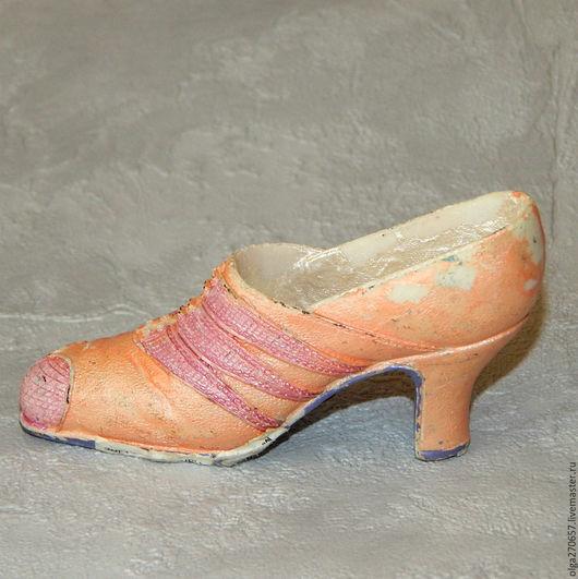 Винтажные предметы интерьера. Ярмарка Мастеров - ручная работа. Купить Винтажная коллекционная туфелька. Handmade. Кремовый