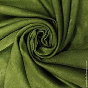 Ткани ручной работы. Ярмарка Мастеров - ручная работа Ткань для штор портьерная однотонная Софт Зеленый, травяной. Handmade.
