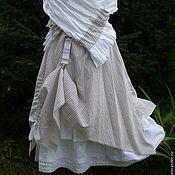 Одежда handmade. Livemaster - original item Linen skirt boho No. №021. Handmade.
