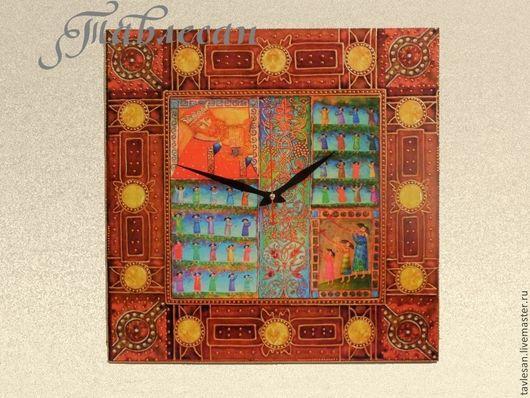 """Часы для дома ручной работы. Ярмарка Мастеров - ручная работа. Купить Часы настенные """"Давид-псалмопевец"""" в гостиную. Handmade."""