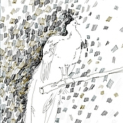 """Картины и панно ручной работы. Ярмарка Мастеров - ручная работа рисунок """"белый павлин 2"""". Handmade."""