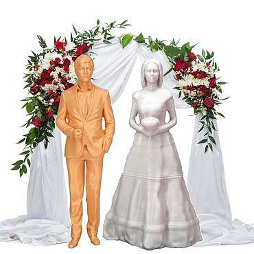 Свадебный салон ручной работы. Ярмарка Мастеров - ручная работа Фигурки на свадебный торт Навеки вместе. Handmade.