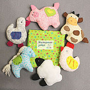 """Куклы и игрушки ручной работы. Ярмарка Мастеров - ручная работа Развивающие игрушки Набор """"Домашние животные"""". Handmade."""