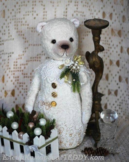 Мишки Тедди ручной работы. Ярмарка Мастеров - ручная работа. Купить Snow Bear 2. Handmade. Белый, снеговичок, плюш