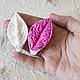 Двусторонний силиконовый молд лист розы My Thai Материалы для флористики из Таиланда
