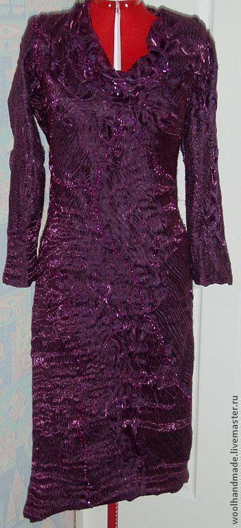 Платья ручной работы. Ярмарка Мастеров - ручная работа. Купить Платье из шерсти Лиловое. Handmade. Тёмно-фиолетовый, платье шерстяное