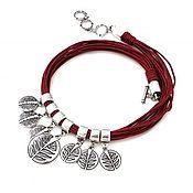 Украшения handmade. Livemaster - original item Necklace chain violet cotton laces. Handmade.