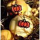 """Готика ручной работы. Ярмарка Мастеров - ручная работа. Купить Комплект """"Halloween"""". Handmade. Рыжий, серьги из бисера, кулон из бисера"""