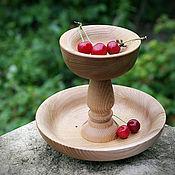 Посуда ручной работы. Ярмарка Мастеров - ручная работа конфетница из карагача. Handmade.