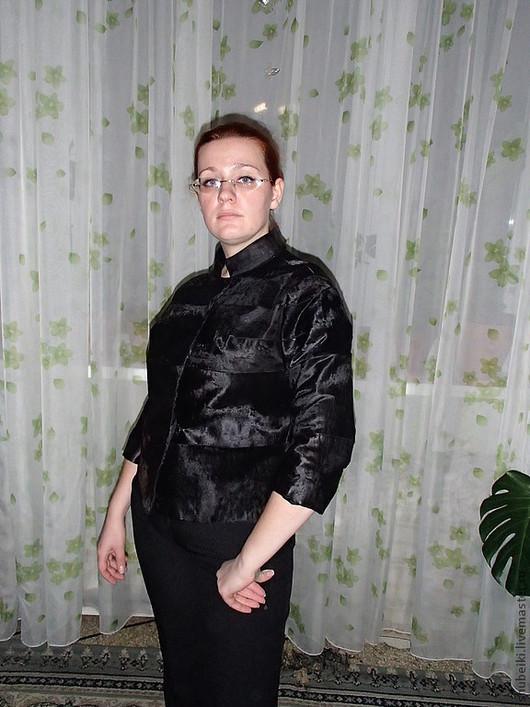 Верхняя одежда ручной работы. Ярмарка Мастеров - ручная работа. Купить Куртка из каракульчи (голяк). Handmade. Черный, каракульча