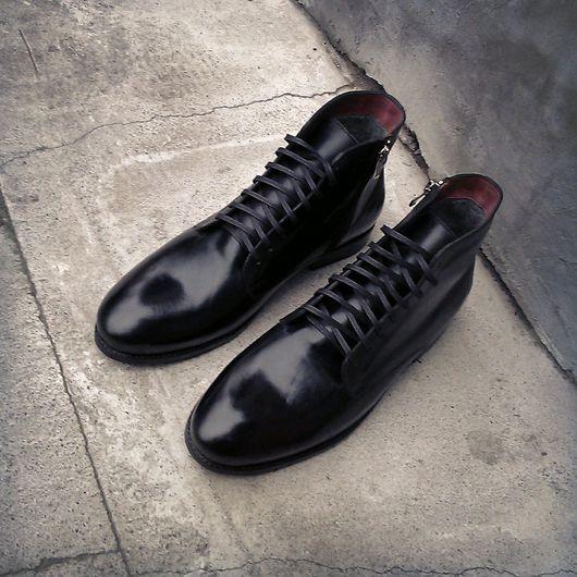 Обувь ручной работы. Ярмарка Мастеров - ручная работа. Купить Зимние ботинки haybros sep-16. Handmade. Зимние ботинки