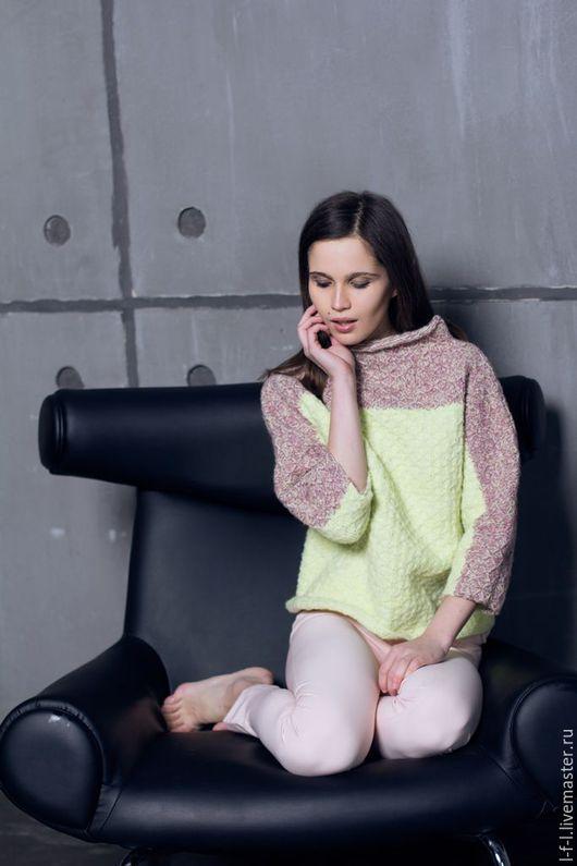 Кофты и свитера ручной работы. Ярмарка Мастеров - ручная работа. Купить Свитер «Стежка» от KesLove. Handmade. Комбинированный, вязаный свитер