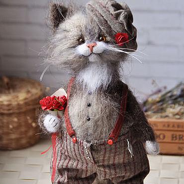 Куклы и игрушки ручной работы. Ярмарка Мастеров - ручная работа КАВАЛЕР Кот. Handmade.