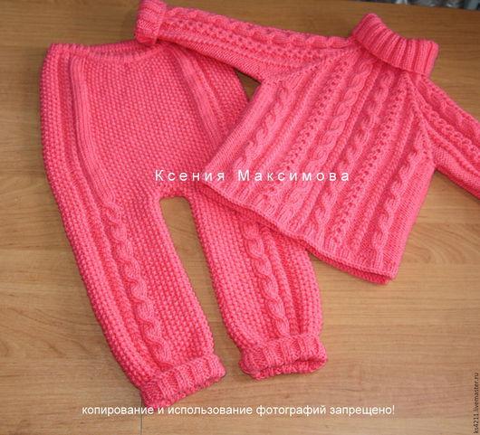 Одежда для девочек, ручной работы. Ярмарка Мастеров - ручная работа. Купить костюмчик  Великолепный  авт. работа свитер штанишки. Handmade.