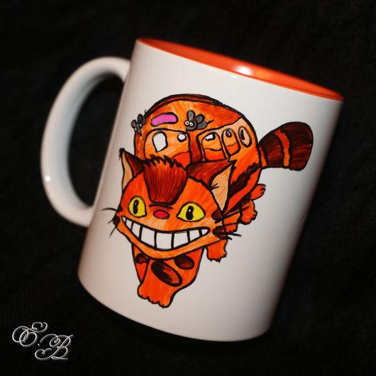 """Кружки и чашки ручной работы. Ярмарка Мастеров - ручная работа. Купить Кружка """"Котобус"""". Handmade. Комбинированный, тоторо, кот, мультфильмы"""